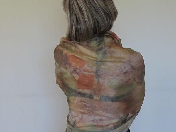 Контактное окрашивание листьями. создание принтов на шёлке   Ярмарка Мастеров - ручная работа, handmade