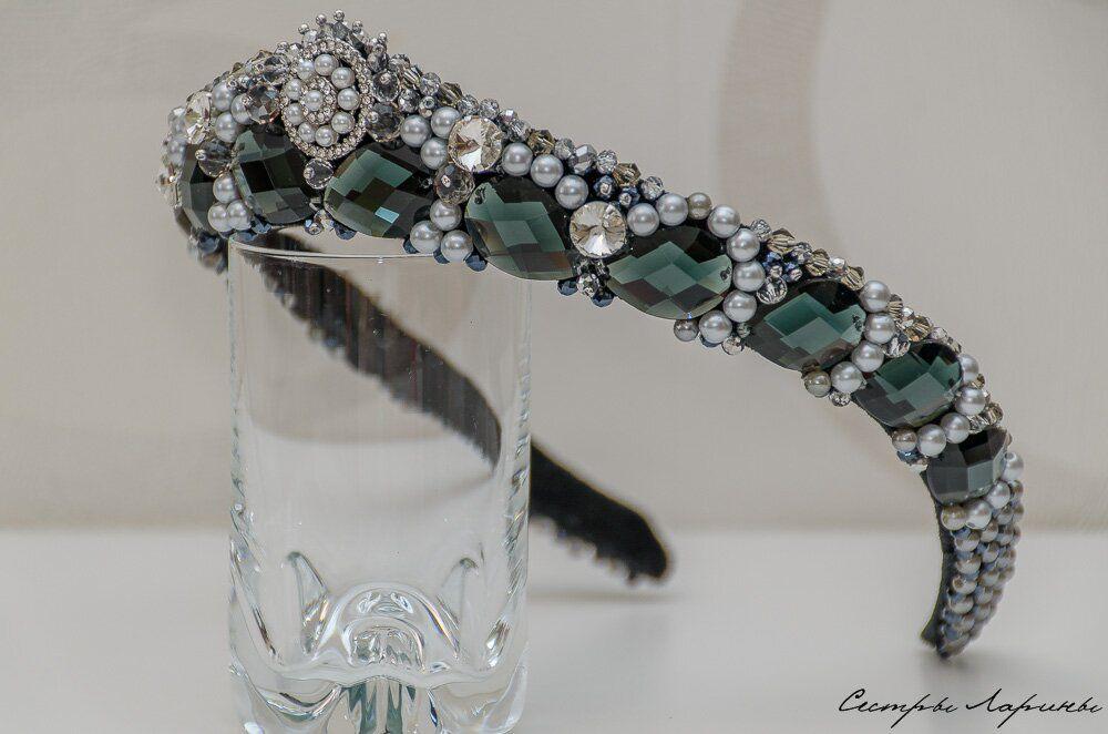 ободок для волос, диадема, русский стиль, серебро