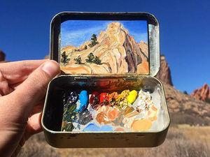 Карманная живопись: миниатюрные пейзажи Heidi Annalise. Ярмарка Мастеров - ручная работа, handmade.