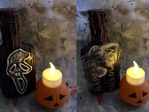 Halloween Bottle Decoration. Livemaster - handmade