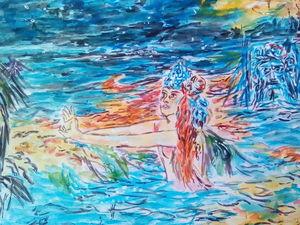 Новая картина Прощание морского царя с царевной Волховой. Ярмарка Мастеров - ручная работа, handmade.