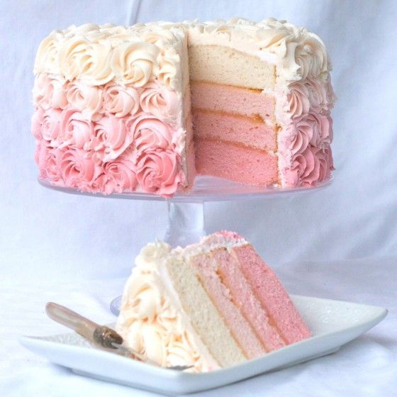 Ombre cake inside and out