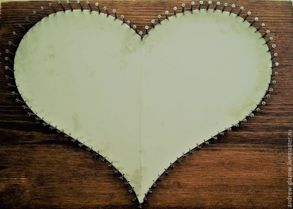 How to Make a String Art Heart, фото № 4