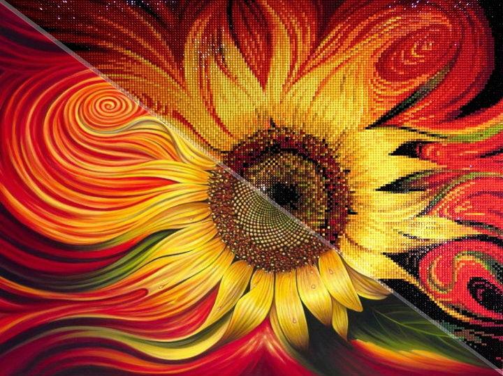 картины с цветами, подсолнухи