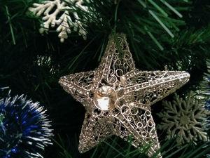 Крутим ажурную ледяную звездочку из проволоки. Ярмарка Мастеров - ручная работа, handmade.