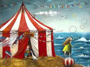 Новая работа. Цирк.. Ярмарка Мастеров - ручная работа, handmade.