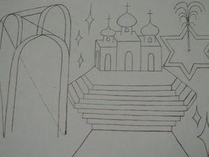 Картина Город Света.. Ярмарка Мастеров - ручная работа, handmade.