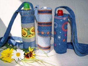 """Новые женские сумочки для бутылок с водой в магазине """"Изумрудные крылья"""". Ярмарка Мастеров - ручная работа, handmade."""