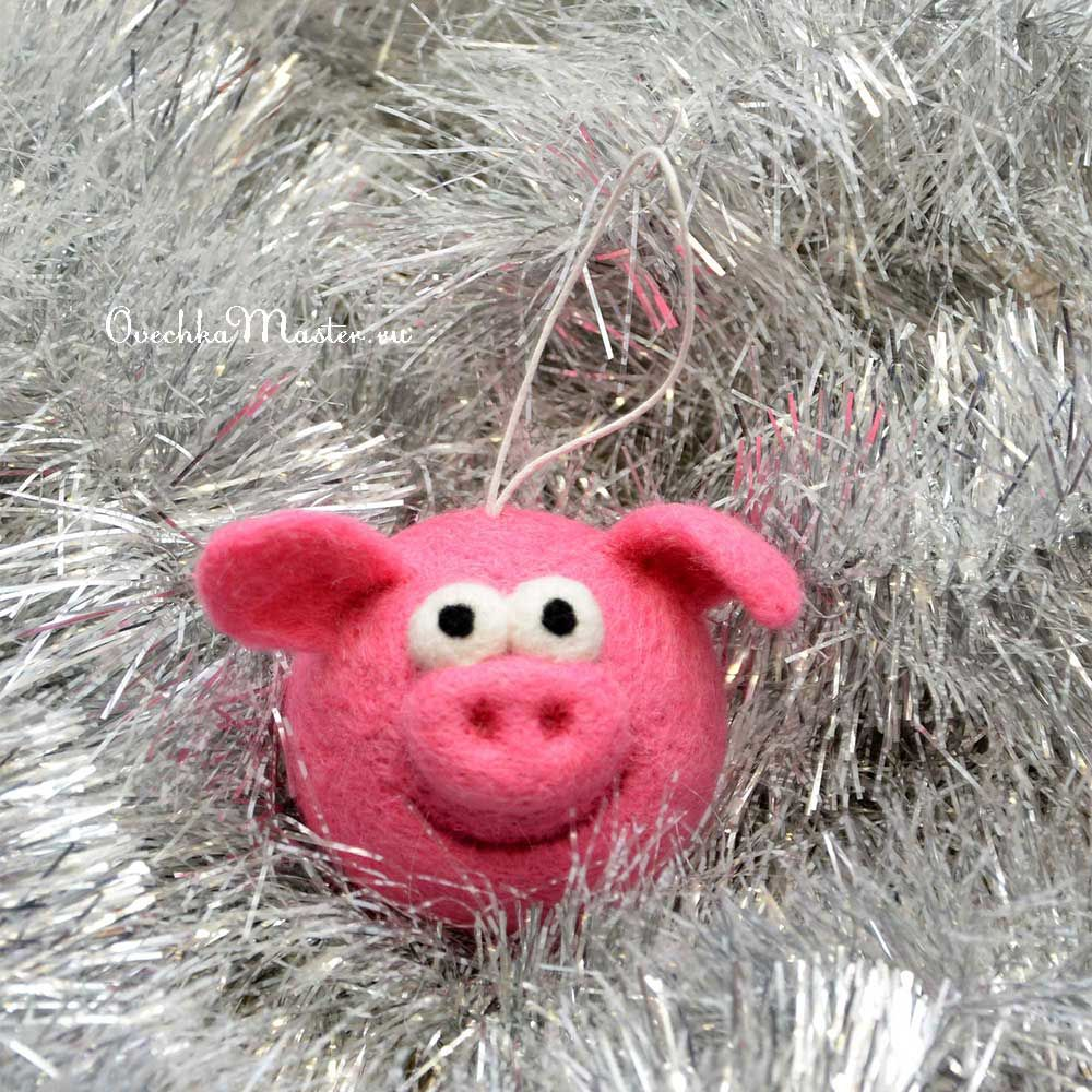 свинья, валяная свинка