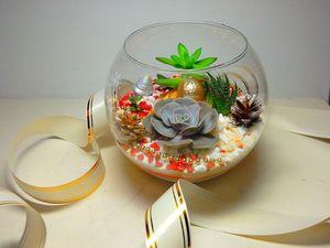 Флорариум подарок к новому году. Ярмарка Мастеров - ручная работа, handmade.