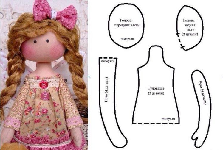 чтобы шьем куклу своими руками выкройки и фото пазом, склеивал пва