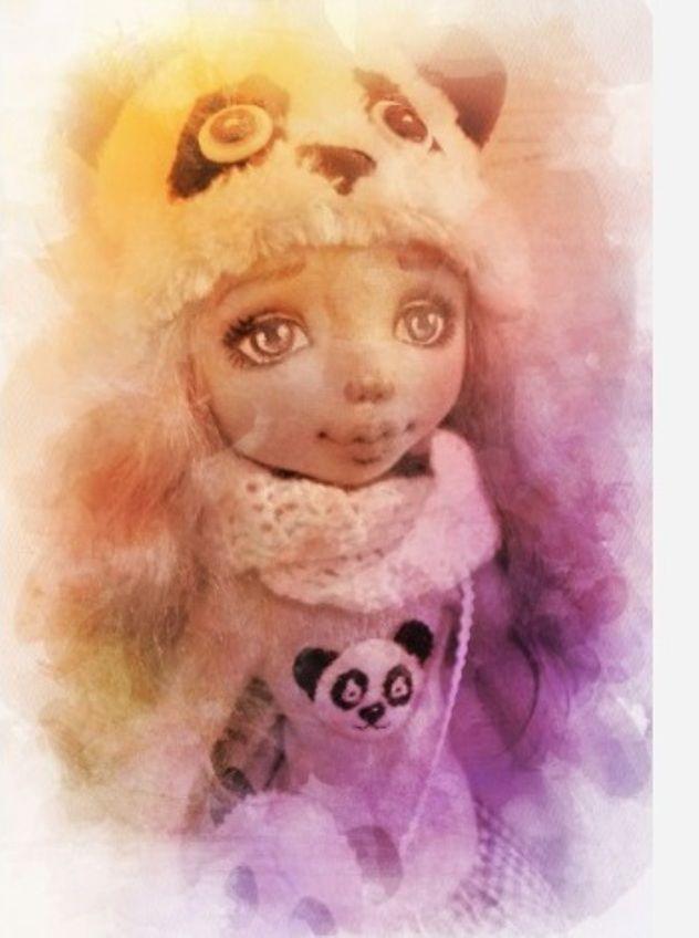 панда, коллекционная кукла