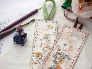 Делаем закладку-гербарий «Мгновения». Ярмарка Мастеров - ручная работа, handmade.