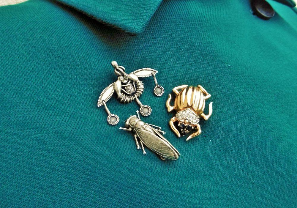 старинные броши, пчелы