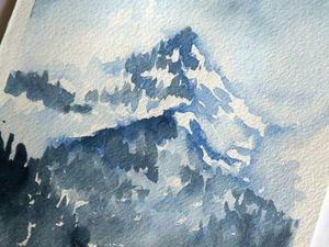 Видео мастер-класс: пишем горы акварелью. Ярмарка Мастеров - ручная работа, handmade.