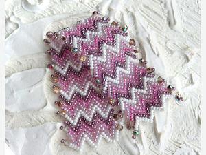 Плетём браслет из бисера с плавным переходом цветов. Ярмарка Мастеров - ручная работа, handmade.