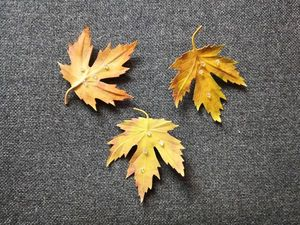Аукцион на кожаные осенние листья. Ярмарка Мастеров - ручная работа, handmade.