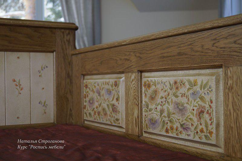курсы росписи мебели, строганова наталья