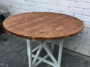 Круглый обеденный стол с белым подстольем. Ярмарка Мастеров - ручная работа, handmade.