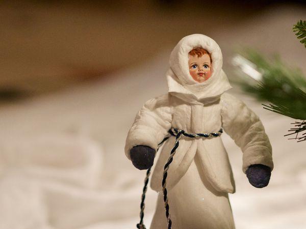 Дед Мороз и Снегурочка игрушки из ваты, фотоотчет для Людмилы   Ярмарка Мастеров - ручная работа, handmade