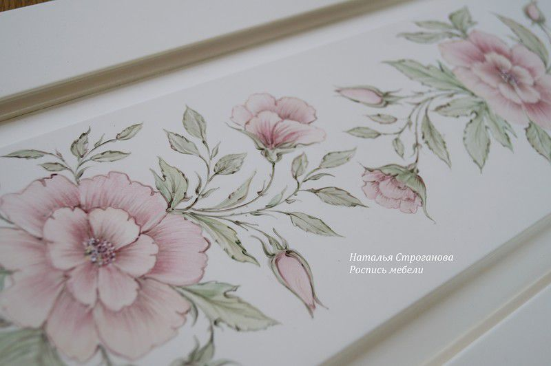 курс роспись мебели, наталья строганова, рисуем вместе 2016