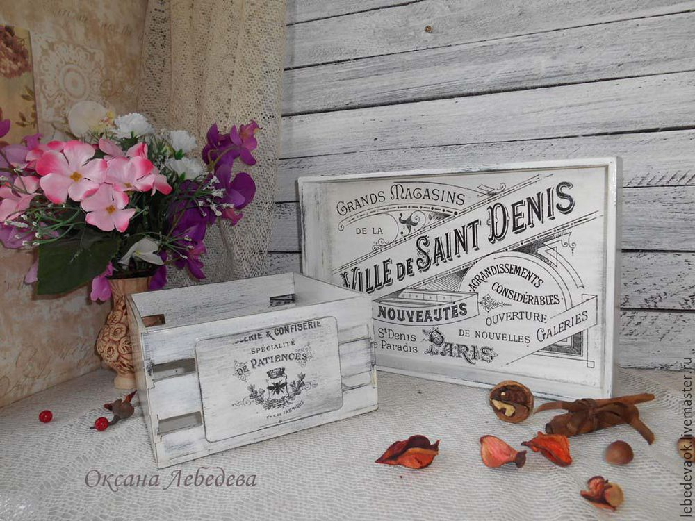 Decorating a Wooden Tray in the French Vintage Style, фото № 14