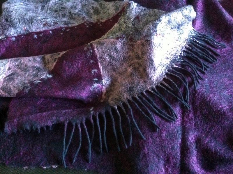 научиться валять шарф