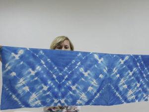 У нас в студии прошла серия занятий по окрашиванию тканей в технике шибори. Фотоотчет. Ярмарка Мастеров - ручная работа, handmade.