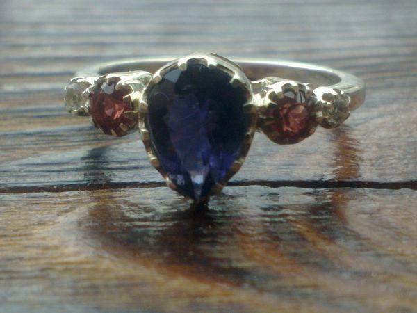 Закрыт Аукцион на три шикарных серебряных кольца с натуральными камнями!   Ярмарка Мастеров - ручная работа, handmade