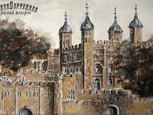 Серия картин Лондонские Зарисовки. Ярмарка Мастеров - ручная работа, handmade.