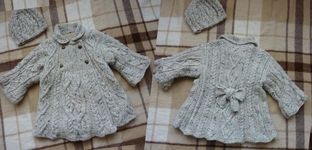 Пальто Вязание спицами, крючком, уроки вязания 84