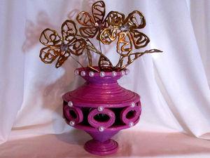 Видео мастер-класс: делаем вазу из газетных трубочек. Ярмарка Мастеров - ручная работа, handmade.