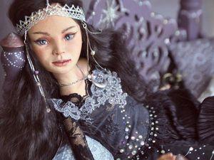 """Кукла коллекционная """"Восточная ночь"""". Ярмарка Мастеров - ручная работа, handmade."""