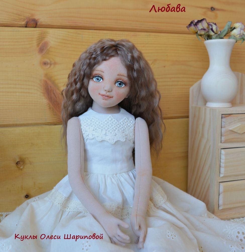 текстильная кукла, кукла ручной работы, единственный экземпляр, купить подарок, локоны козы, девочка