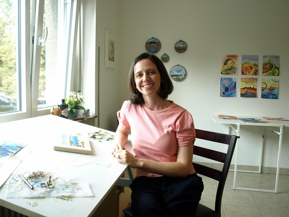 Смотри на мир сквозь пяльцы: вышитые путешествия Libby Williams