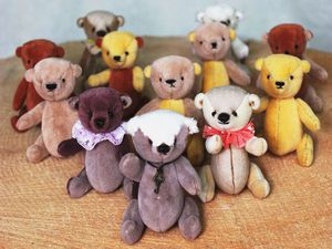 Медвежата-миники в желтых шарфиках со скидкой 10%!!! | Ярмарка Мастеров - ручная работа, handmade