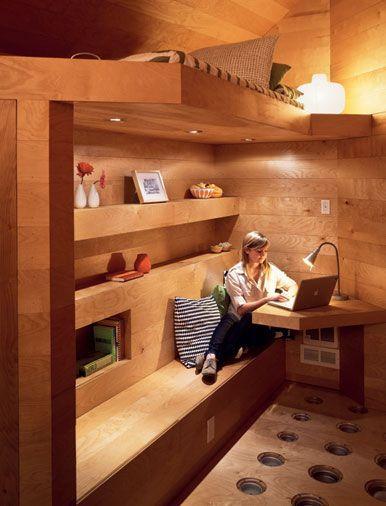 living room + bedroom