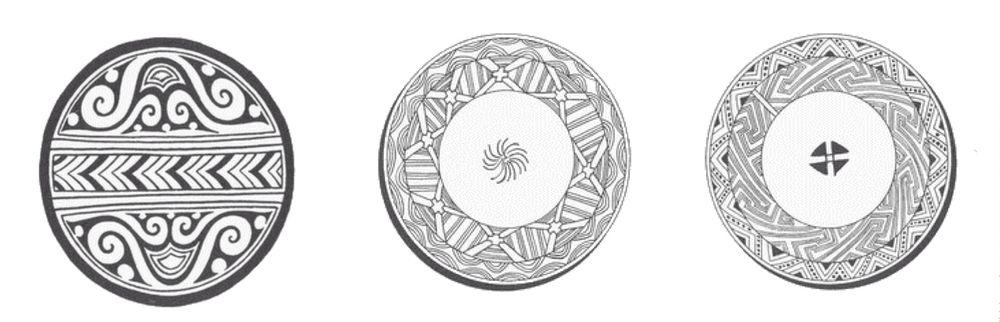 орнамент в круге, рисунок