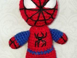 Видео мастер-класс по вязанию Человека паука 1 часть. Ярмарка Мастеров - ручная работа, handmade.