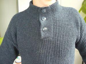 Снова в продаже мужской джемпер-поло. | Ярмарка Мастеров - ручная работа, handmade