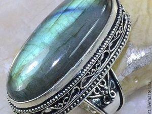 Перстень с лабрадоритом. Размер 18 мм. Ярмарка Мастеров - ручная работа, handmade.