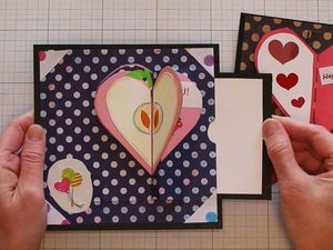 Видео мастер-класс: как сделать необычную открытку с «раскрывающимся» сердечком на День святого Валентина | Ярмарка Мастеров - ручная работа, handmade