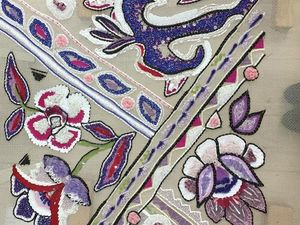 Узор №7 Annees80 для обучения люневильской вышивке в Школе Лесаж. Ярмарка Мастеров - ручная работа, handmade.