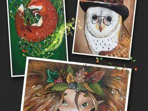 Аукцион на 4 набора текстильных Купонов с ручной росписью!. Ярмарка Мастеров - ручная работа, handmade.