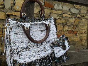 Летние сумки связанные из ленточной пряжи. Скидка 20%. | Ярмарка Мастеров - ручная работа, handmade