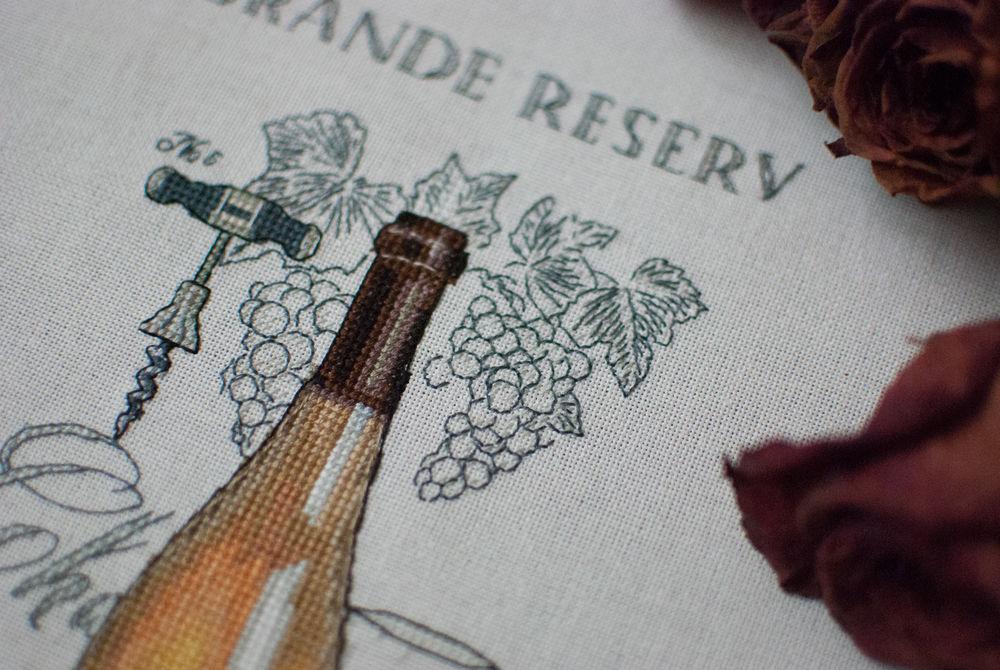 вышивка ручная, вино
