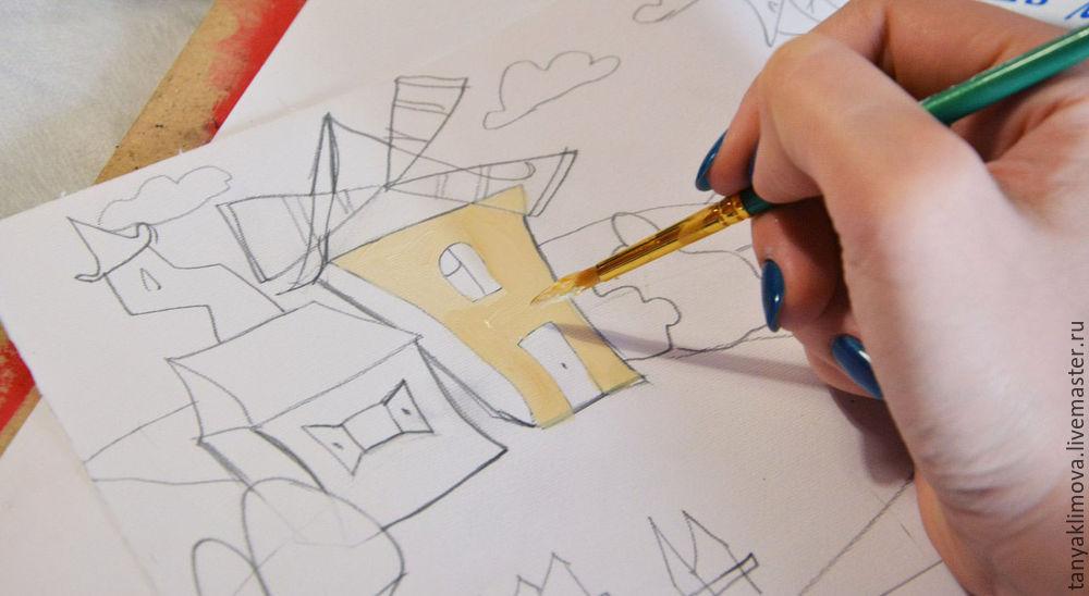 Развиваем детей с помощью аппликации «сказочный город», фото № 9