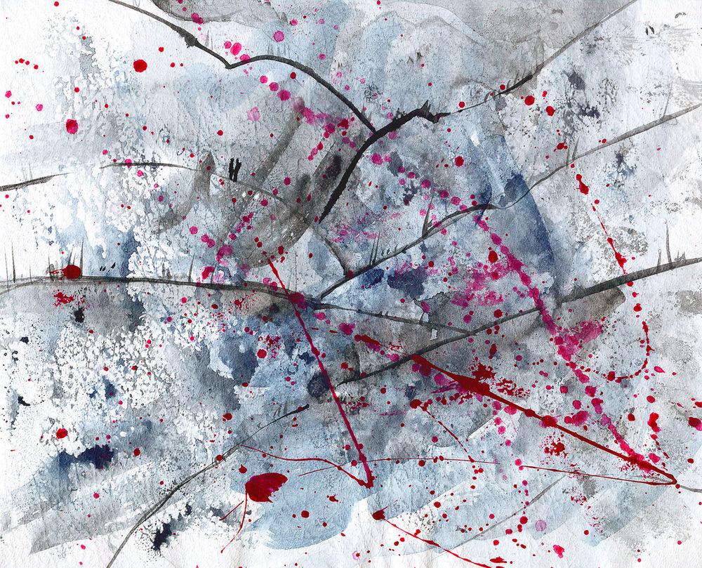 выставка в москве, картина акварелью, импрессионизм, картина в подарок, белый, картина для интерьера, картина пейзаж