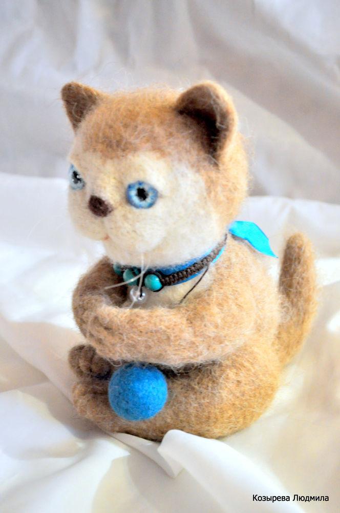 валяный кот, котики из войлока