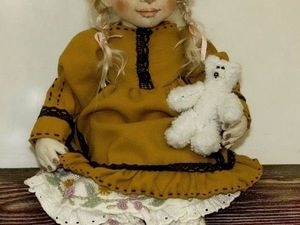 Презентация авторской интерьерной текстильной куклы Герды. Ярмарка Мастеров - ручная работа, handmade.